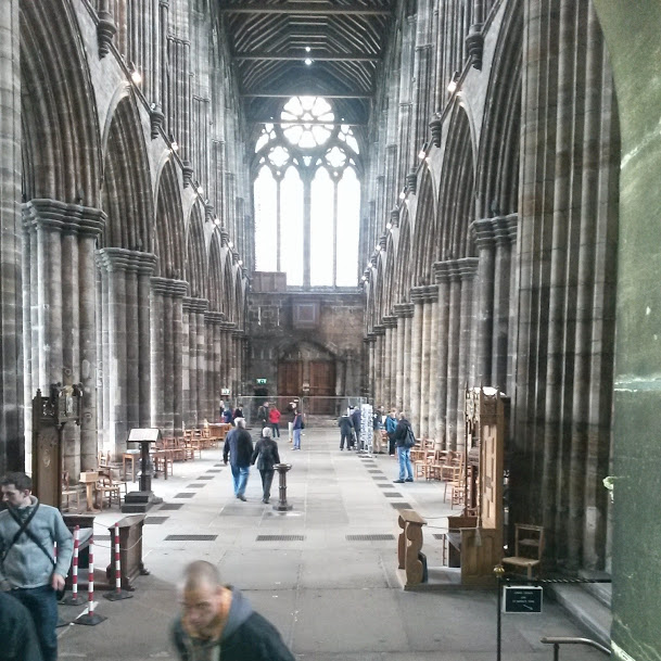 Inside the Glasgow Cathedral